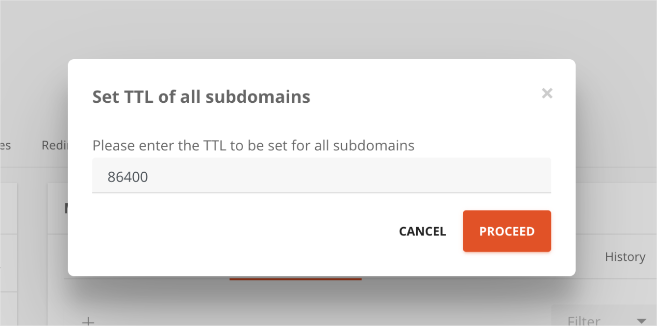 TTL Filter options in AutoDNS